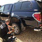 L200 Pickup Tyre Puncture repair by Mototyres 2 u Lincolnshire