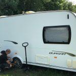 Mototyres 2 u mobile caravan tyre fitting in Lincolnshire