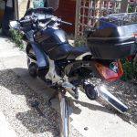 Mototyres 2 u Mobile Motorbike tyres with rear wheel out