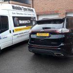 Mototyres 2 u Mobile Tyre fitting Lincolnshire Holbeach Tyres Ford Edge and Mototyres 2 u van